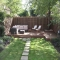 backyard raised seating area - Backyard ideas