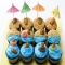 Beach Bear Cupcakes - CUP CAKE IDEAS