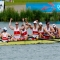 Canadian men's eight rowing crew wins silver medal at the 2012 Olympic regatta