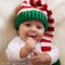 Crochet Baby Christmas Elf Hat - Holidays