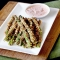 Crunchy Bakes Asparagus Fries with Lemon Herb Sriracha Dip
