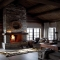Dry stacked stone fireplace - Dream Home Interior Décor