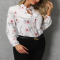 Floral Print Tied Detail Casual Blouse - Spring Wardrobe