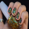 Gold color glitter nail polish - Fave beauty & hair ideas