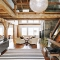 Great open stairway in this post and beam - Great houses