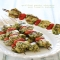 Grilled Pesto Chicken and Tomatoe Kebabs - Cooking