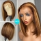 Highlight Wig Bob Hairstyle Straight Brazilian Human Hair Lace Front Wigs - Fave hairstyles