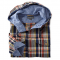 Hooded Madras Long-Sleeve Shirt - Man Style