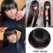 Human Hair Wigs With Bangs Brazilian Straight Hair -Ashimary Hair - Christmas fun