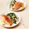 Instant Pot Salmon with Garlic Potatoes and Greens
