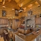 Large Log Kitchen
