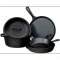Lodge Five-Piece Cast-Iron Cookware Set - Cookware
