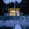 Modern Cabin with Massive Swinging Glass Wall