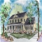 Nice Country Colonial House Plan - Country Farmhouse