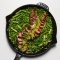 One-Skillet Steak and Spring Veg with Spicy Mustard - Tasty Grub