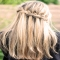 Partial French Braid - Hair and Nails