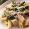 Penne with Chicken and Asparagus - Cooking