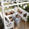 Pergola with amazing seating - Backyard ideas