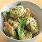 Pesto Shrimp with Snow Peas over Quinoa - Recipes