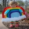 Rainbow kids costume