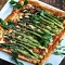 Roasted Asparagus, Bacon & Cheese Tart