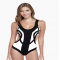 Rorschach Cut Out One Piece Swimsuit - Bathing Suits