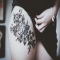 Rose thigh tattoo - Tattoos