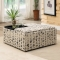 Scripted Storage Ottoman - Home decoration
