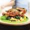 Skillet-Roasted Chicken with Farro and Herb Pistou - Tasty Grub