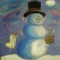 Snowmen at Night - Chalk Pastel Art - Art Fun