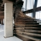 Spiral Staircase Made with Planks - House Style