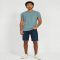The Dylan Stretch Jean Shorts in Vintage Blue - Man Style