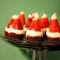 Santa Hat Brownie Bites - Christmas