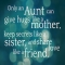 Only an Aunt... - Quotes & Sayings