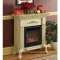 Ivory Queen Anne Electric Fireplace