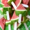 Watermelon on a stick - Party ideas
